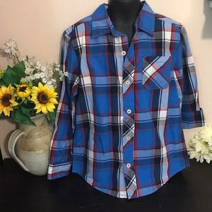 Arizona Jean Co. Plaid Button Down Long Sleeve Top